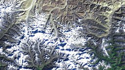 Mount Everest image taken from Landsat 7
