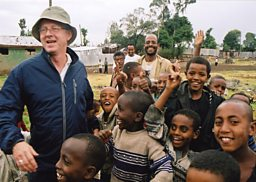 Richard Curtis in Ethiopia