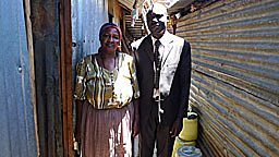 Pastor George Odieng (r) and Philomina Nujeri (l)