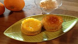 Orange Puddings with Marmalade Glaze & Caramel Orange Ice Cream