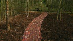 MAKING BRICK PATHS