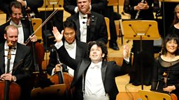 Dudamel with LA Philharmonic. c Mathew Imaging