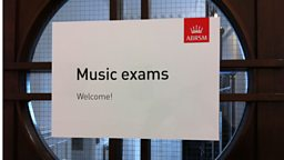ABRSM Music Exams sign