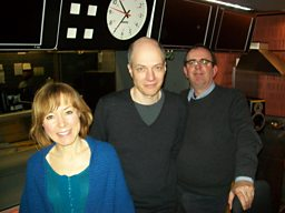 Sian Williams, Alain de Botton and Richard Coles