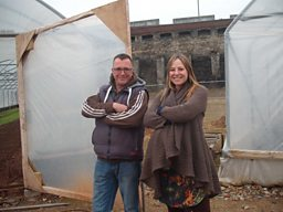 Alice with Steve from the Severn Project