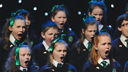 St Patrick's Primary School singing Joshua Fought The Battle of Jericho