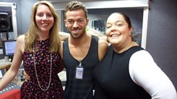 Strictly Come Dancing stars Artem Chigvintsev and Lisa Riley on air now with Laura