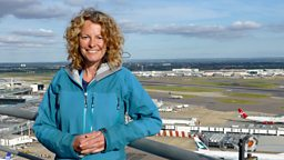 Kate Humble at Heathrow airport