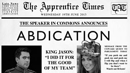 Abdication Newspaper