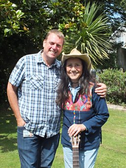 John Govier with folk legend Julie Felix