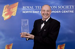 Chris Jackson at RTS North East Awards 2012