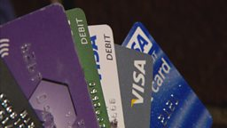 A handful of credit cards