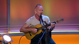 Sting performs live on the Andrew Marr Show