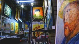 Oil painting copy shop