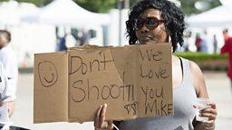 Man shot at Ferguson protest