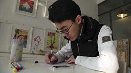Cartoon chat app guide 手绘指南教爸妈聊天
