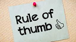 Rule of thumb 经验法则