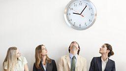 The office that starts at 9.06am 早上九点零六分准时开始工作