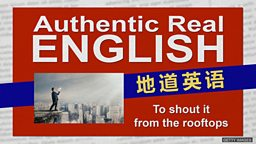 """To shout it from the rooftops """"从屋顶喊话""""的意思就是""""让所有人都知道"""""""