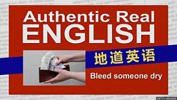 "Bleed someone dry ""放干某人的血""其实是""榨干钱财""的意思"