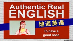 """To have a good nose (for something) 嗅觉灵敏就能""""发现新事物"""""""