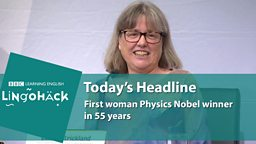 First woman Physics Nobel winner in 55 years