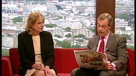 Ann Treneman and Nigel Farage