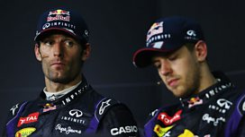 Mark Webber and Sebastian Vettel