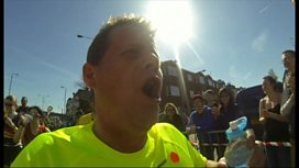 London Marathon: Breakfast's Mike Bushell films race on camera
