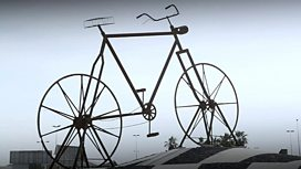 Bicycle art scuplture in Jeddah