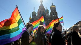 Gay rights rally in St Petersburg