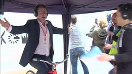Nicky Campbell takes pedal power challenge