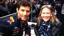Mark Webber and Jennie Gow