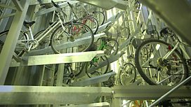 An underground robotic cycle park