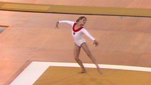 Image for Olga Korbut charms the world