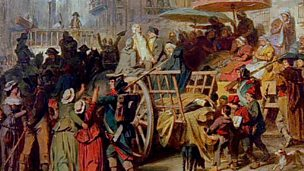 Execution by guillotine, 1792