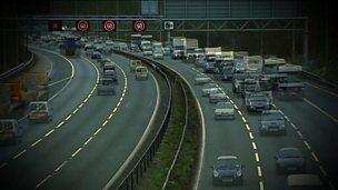 Vehicle flow rates on the motorway