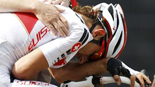 Image for Fabian Cancellara crashes in men's road race