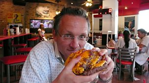Image for Presenter Michael Mosley visits the Heart Attack Grill