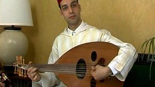 Playing the oud