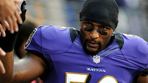 Image for Ray Lewis: NFL linebacker with Darren Fletcher