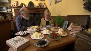 Image for Peter Brears and Lucy Worsley discussing puddings from Food in England
