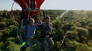 Filming an aerial sequence for 'Life on Earth'