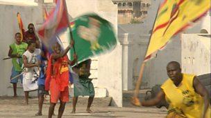 Ghanaian Asafo flag making