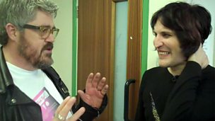 Image for Backstage Buzzcocks: Phill Jupitus and Noel Fielding discuss Phill's top hosts