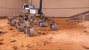The Mars Rover all-terrain vehicle