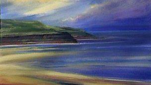 Painting a watercolour seascape