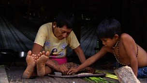 Family life in the Amazon jungle