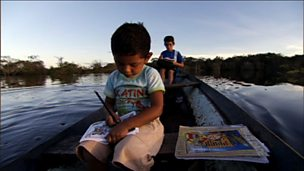 Life for young people living in Greenland and the Rio Negro in Brazil