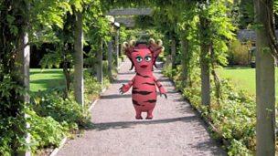A bugbear in a garden